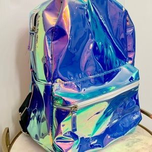 Neon reflective rave backpack
